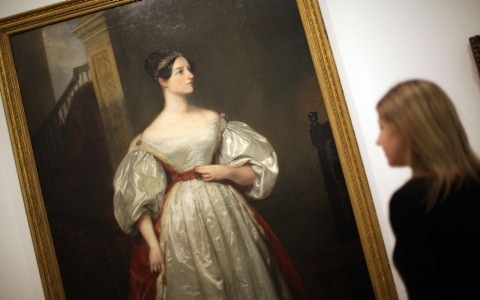 Portrait of Ada Lovelace, considered to be the first computer programmer and the namesake of a day to honor women scientists, shown in London last year.