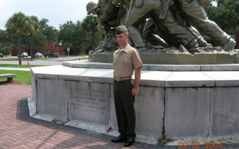 Thomas Bagosy the day he graduated from boot camp in 2004.