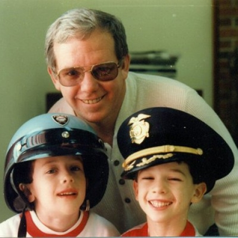 A photo from a family trip to Washington, D.C. in the early 1990s with Robert, his son Thomas on the right and Michael on the left.