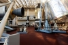 <b>Washington, D.C.</b> An exhibition at the Smithsonian Air and Space Museum that normally teems with visitors stands empty because of the shutdown.