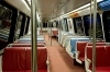 <b>Vienna, Va.</b> One person rides into Washington via Metro during the morning rush-hour commute Thursday.