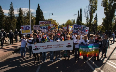 Montenegro holds first gay pride march in capital