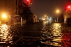 The Gowanus Canal overflows as the storm surge from Sandy peaks on Oct. 30, 2012, inundating the intersection of Bond and 3rd streets in Brooklyn, N.Y.