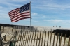 Today the boardwalk in Rockaway Beach has not been rebuilt.