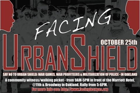 Urban Shield protest