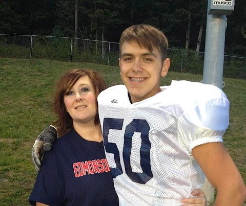 Shauna Hensley Gravil and her son Austin Lemieux.