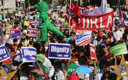 Protests call on Congress to 'stop playing games' over immigration reform
