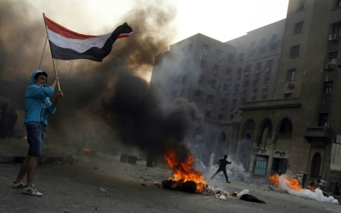 protests in Egypt against military coup