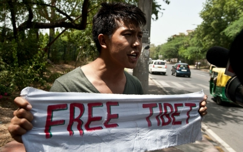 Tibet-China-protests-India