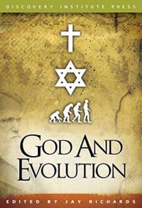 One of the books on creationism published by the Discovery Institute.