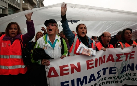 Thumbnail image for Thousands of workers in Greece strike to protest austerity