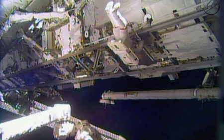 NASA astronauts make urgent spacewalk repairs