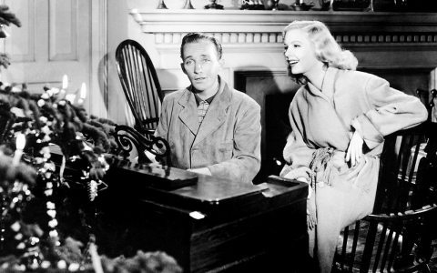 "Bing Crosby and Marjorie Reynolds in ""Holiday Inn."""