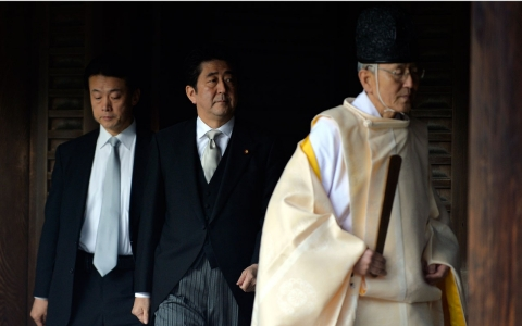 Thumbnail image for Japan's prime minister visits controversial shrine to war dead