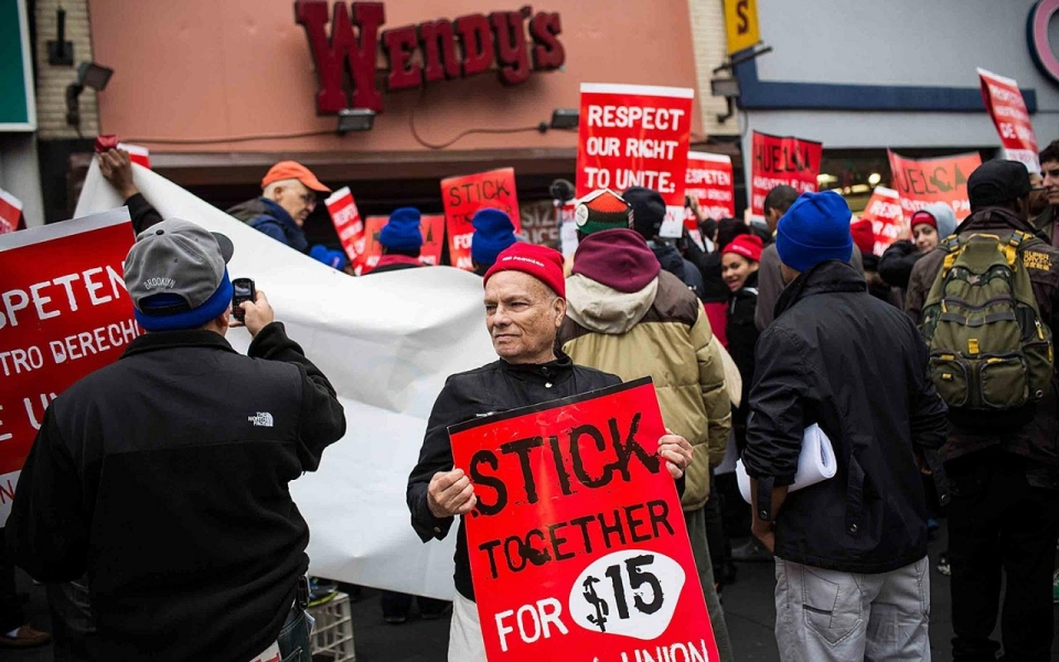 Fast-food workers walk off jobs in '100 city' low-pay ...
