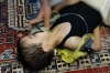 This young boy survived the attack. In this photo, he is given oxygen in Saqba, Aug. 21, 2013.