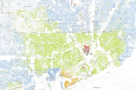 Map America Still Divided By Race Al Jazeera America - Detroit on the us map