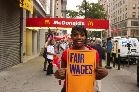 fast-food, strike, fair wages