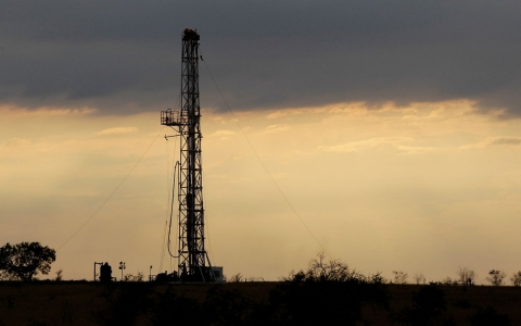 A drilling well on the Eagle Ford formation in southern Texas in May 2012.
