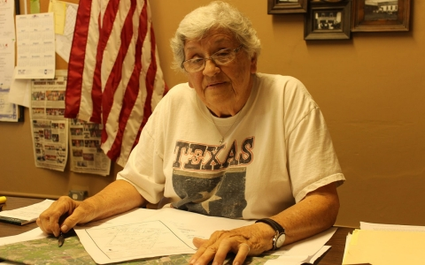Kathy Pain is mayor of tiny Nordheim, Texas, where the fracking boom has left bumpy roads and repair bills.