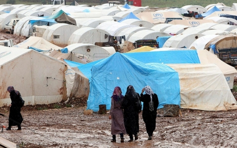 The Atma refugee camp on April 18, 2013, in Darkoush, Syria.