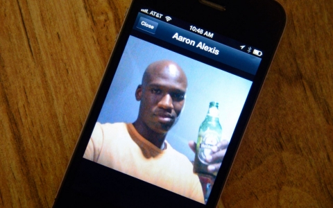 A friend's cell phone shows a picture of Aaron Alexis, suspect in the mass killing that left 12 dead Monday.