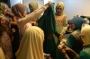 Contestants of the Muslimah World pageant prepare backstage for the grand final of the contest in Jakarta on Wednesday.