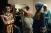 Contestants of the Muslimah World pageant prepare for the grand final of the contest in Jakarta.