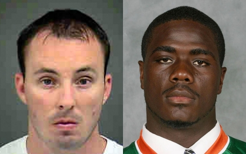 Officer Randall Kerrick (left) faces a voluntary manslaughter charge after shooting Jonathan Ferrell.
