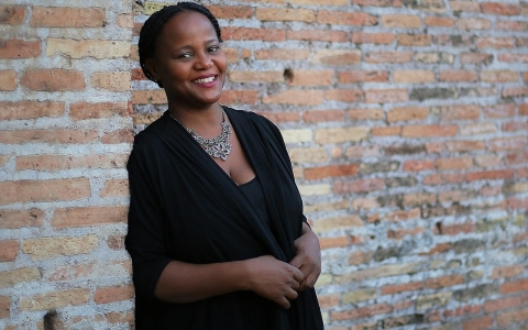 Edwidge Danticat, the Haitian-American writer and author of Claire of the Sea Light, in June