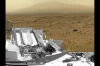 This full-circle view combines nearly 900 images taken by Curiosity, creating a virtual panorama of the Martian surface. The rover used three cameras to take the images on several different days between Oct. 5 and Nov. 16, 2012.