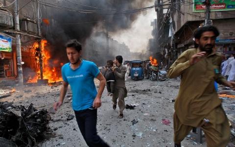 Image result for images of Pakistan market bomb blast
