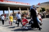 Syrian refugees arrive at Turkey from Cilvegozu crossing gate at Reyhanli, in Antakya, on Friday.