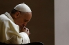 Pope Francis attends a prayer calling for peace in Syria, in Saint Peter's square at the Vatican