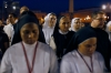 Nuns attend a prayer calling for peace in Syria leaded by Pope Francis in Saint Peter's square at the Vatican