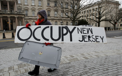 New Jersey Sandy storm Occupy protest