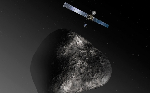 Thumbnail image for Comet-chasing Rosetta wakes up, whispers sweet-nothings to Earth