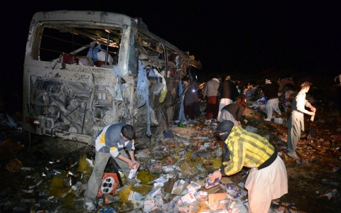 Thumbnail image for Pakistan bus bombing kills 22 Shia pilgrims
