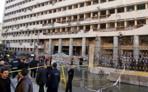 Thumbnail image for Multiple bomb attacks target Cairo police on eve of uprising's anniversary