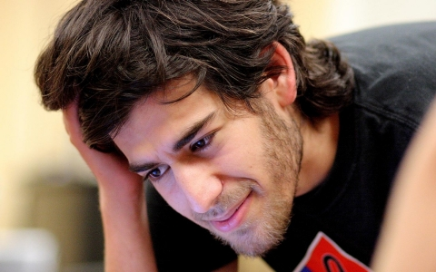 Aaron Swartz at a Boston Wiki Meetup in 2009.