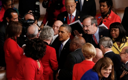 Women front and center in Obama's State of the Union address
