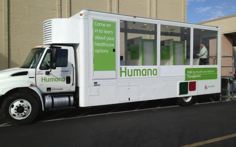 The Humana heath care bus.