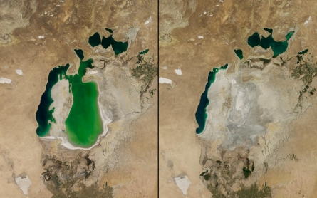 Once-mighty Aral Sea reduced to largely salt