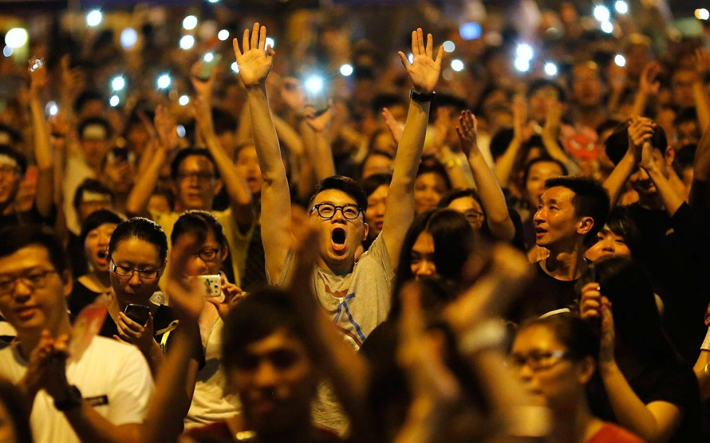 How a pro-democracy protest has kept thousands on Hong