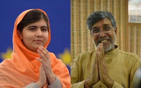 Malala shares Nobel Peace Prize with Indian children's