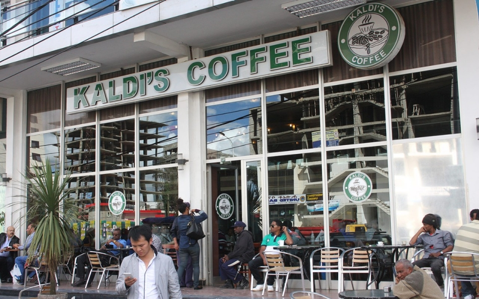 Kaldi's Coffee located in Addis Ababa