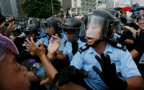 Thumbnail image for Hong Kong police in spotlight as protest tensions escalate