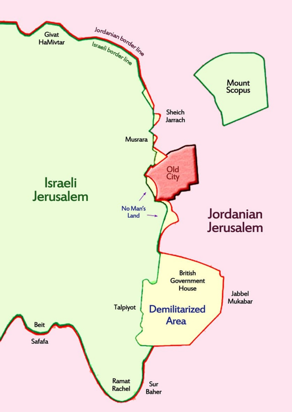 Who Owns Jerusalem Al Jazeera America - Map us government owned land