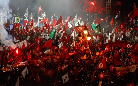 Thumbnail image for Tunisia Islamist party split on 'coup'
