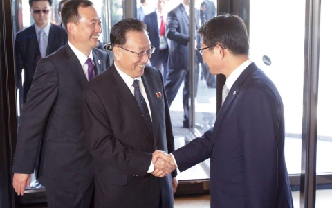 Thumbnail image for Top North Korean officials visit South, raising diplomatic hopes